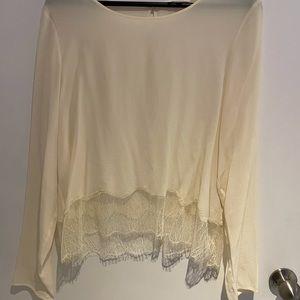 ARITIZA Wilfred Silk Cream Blouse